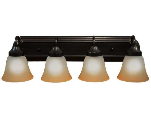 Luna Series Bathroom Four Globe Vanity Light Bar Fixture