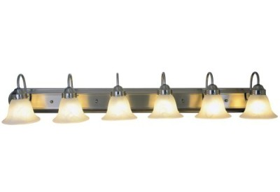 Collection bathroom lighting fixtures af lighting 617573 48 inch w by 8 inch h by 9 inch e lunar bay lighting collection six light vanity fixture brushed nickel mozeypictures Gallery