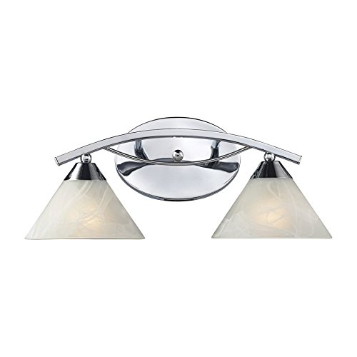 Modern Vanity Lighting Chrome : Elk Lighting 17021-2 Elysburg 2 Light Contemporary Bathroom Vanity Lighting Fixture, Polished ...