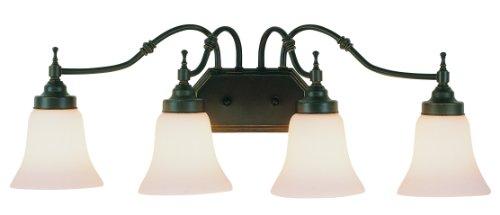 New 4 Light Bathroom Vanity Lighting Fixture Bronze: Trans Globe Lighting 3934 ROB 4-Light Bathroom Light