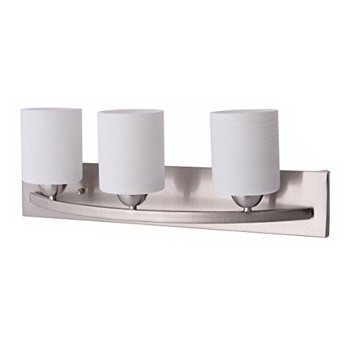 Wall Light Fixture Covers: Tangkula Bathroom Vanity Lamp Shade 3-Lights Lamp Cover