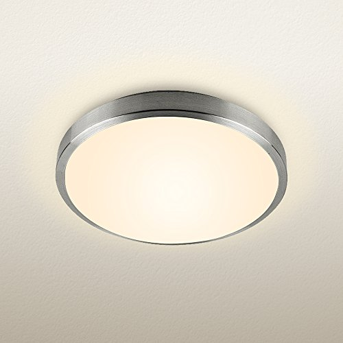 natsen modern ceiling lights led 18w round flush mount ceiling light fixture for kitchen bedroom bathroom warm white 3000k