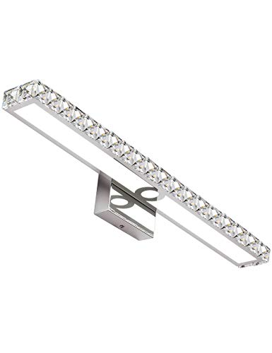 solfart led vanity lights over mirror 25 4 inch 24w crystal wall lights for bathroom lighting