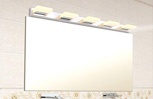 Crystal Bathroom Light Fixtures Stainless Steel Led Bath: Nexium 15w 37.4in Warm White 5-Light 800lm Led Bathroom
